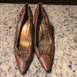 Adrian vittadini snake skin heels